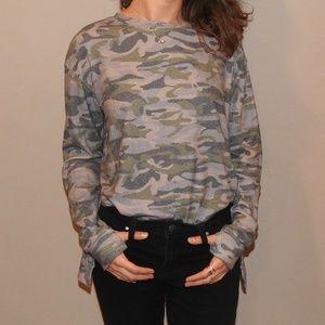 Army print sweater